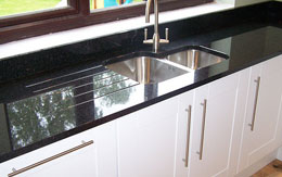 Photo of a granite kitchen benchtop