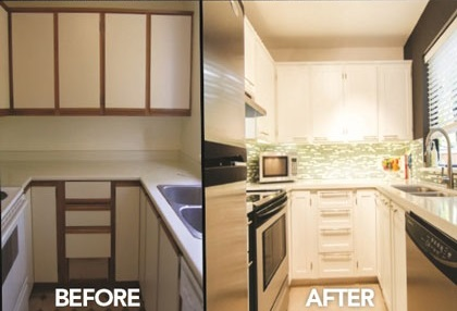 Kitchen Re-Face Before and After